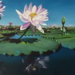 a painting of Waterlillies
