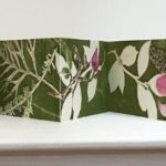redland yurara art society - art for sale - 'Bridport Magnolia' -Anita Mangakahia - Original -Monoprint, -- watercolour collage - ink - concertina book