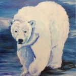 redland yurara art society - painting - 'Artic Ice' - polar bear - ice - Karen Munster