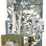 redland yurara art society - art for sale - 'Adventure' - Anita Mangakahia - wall installation - Original- Botanical monoprint - oil