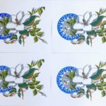 redland yurara art society - art for sale - 'Blue n Botanical '- Anita Mangakahia - $30 each (36x27.5cm) - limited edition - set of 8 Screenprints - unframed