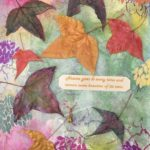 redland yurara art society - autumn exhibition - leaves - 'Autumn Beauty' - Laurel Donaldson - Mixed Media - autumn leavess