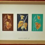 redland yurara art society - autumn exhibition - leaves - 'Autumn Leaves' - Gloria Dietz-Kiebron - linocut print