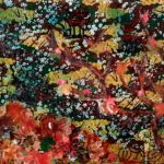 redland yurara art society - autumn exhibition - leaves - painting - 'Autumn in the Orient' - Wendy Duff - beautiful autumn colours - movement - dynamic