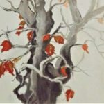 redland yurara art society - autumn exhibition - leaves - 'Fall' - Gloria Dietz-Kiebron - painting - acrylic - autumn leaves - tree