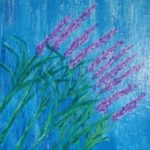 redland yurara art society - autumn exhibition - leaves - 'Lavender Blue' - Tarja Rantala -painting- acrylic