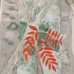 redland yurara art society - autumn exhibition - Leaves - 'The Red Leaf' - Rosie Sheehan - red leaf