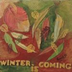redland yurara art society - autumn exhibition - leaves - 'Winter is Coming' -Laurel Donaldson - Mixed Media - autumn colours