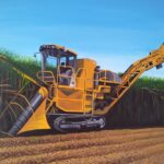 redland yurara art society - my queensland - online art exhibition - painting - 'Harvester' - Lisa De Leon - Acrylic - Canvas