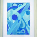 redland yurara art society - painting - shades of blue - art exhibition - 'Blue on Blue' - Danielle Bain - abstract - Acrylic -artworks for sale - Framed