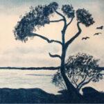 redland yurara art society - art exhibition - shades of blue - painting - 'Looking into the Blue' -Laurel Donaldson - landscape - Pastel - Framed