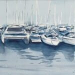 Redland Yurara Art Society -'Manly' - Philip Van Niekerk - Watercolour - Painting - Shades of Blue