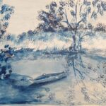 Redland Yurara Art Society - 'Sanctuary in Blue' - Viga Misztal - Watercolour - Painting - Shades of Blue