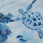 'Turtle Time'Mary Jane Turk $50 (300 x400mm) Acrylic
