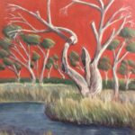 'After the Rains' -Evelyn Kerlin -Acrylic on canvas - Painting - Redlands Yurara Art Society - Art Exhibition - Outback Australia