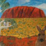 Redland Yurara Art Society - 'Ayers Rock' - Tarja Rantala - Acrylic - Painting - Art Exhibition - Outback Australia