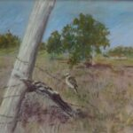 Redland Yurara Art Society - 'Fence Inspection' - Jacqui Selke-Pike - Pastel -Framed under glass - Painting - Art Exhibition - Outback Australia