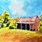 Redland Yurara Art Society - 'Outback Australia' - Gloria Dietz-Keibron -Acrylic- Painting - Outback Australia Exhibition