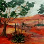'Kangaroo Tails' - Rosie Sheehan - Acrylic on canvas - Painting - Redlands Yurara Art Society - Outback Australia - Art Exhibition
