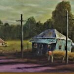 Redland Yurara Art Society - 'Leaving Burke' - Ray Hackett - Oil - Framed - Painting - Art Exhibition - Outback Australia