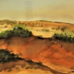 Redland Yurara Art Society - 'Simpson Desert' - Philip Van Niekerk - Watercolour - Painting - Art Exhibition - Outback Australia