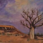 Redland Yurara Art Society - 'The Boab' - Arja Tossavainen - Oil on canvas - Painting - Art Exhibition - Outback Australia