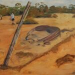 Redland Yurara Art Society - 'The Outback' -Sylvia Heterick - Mixed Media - Painting - Art Exhibition - Outback Australia