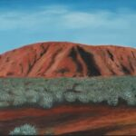 Redland Yurara Art Society - 'Uluru' - Ray Hackett - Oil - Framed - Painting - Art Exhibition - Outback Australia