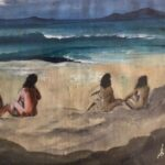 Redland Yurara Art Society - 'Beach for Brunettes' - Colin Owens - Acrylic - Framed - Painting - Art Exhibition - Seascapes and Beaches