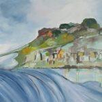 Redland Yurara art Society - 'Contemporary Seascape' - Gloria Dietz-Kiebron - Acrylic - Painting - Art Exhibition - Seascapes and Beaches