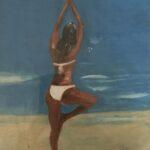 Redland Yurara Art Society - 'Ipanema Girl' -Colin Owens - Acrylic -Framed - Painting - Art Exhibition - Seascapes and Beaches
