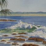 Redland Yurara Art Society - 'Island Bliss' -Kathryn Ryan - Watercolour - Framed - Painting - Art Exhibition - Seascapes and Beaches