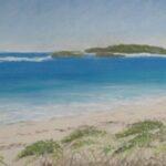 Redland Yurara Art Society - 'Lancelin Beach, Western Australia' - Jacqui Selke-Pike - Pastel - Unframed - Painting - Art Exhibition - Seascapes and Beaches