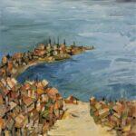 Redland Yurara Art Society - 'Not Manly nor Bondi' - Robin Wilson - Acrylic - Painting - Art Exhibition - Seascapes and Beaches