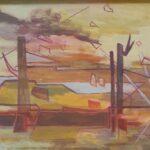 Redland Yurara Art Society - 'Pylons to Coochie' - Georgie Usher - Acrylic - Painting - Art Exhibition - Seascapes and Beaches