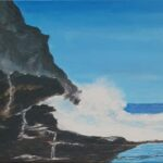 Redland Yurara Art Society - 'Rocky Surf' -Peter Veal - Acrylic - Painting - Art Exhibition - Seascapes and Beaches