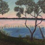 Redland Yurara Art Society - 'Ruster's Reserve. Redland Bay' -Evelyn Kerlin - Acrylic - Painting - Art Exhibition - Seascapes and Beaches