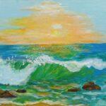 Redland Society Art Exhibition - 'Seascape 1' - Tarja Rantala - Acrylic - Painting - Art Exhibition - Seascapes and Beaches
