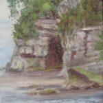 Redland Yurara Art Society - 'Wai Iti Beach, New Zealand' - Jacqui Selke-Pike - Pastel -Unframed - Painting - Art Exhibition - Seascapes and Beaches