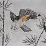 redland yurara art society - yurara youth art awards - YYAA 2020 - art exhibition - art competition - 'Ai Koi' - Morgan Clarke -Cleveland District State High School -Watercolour