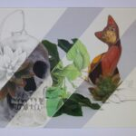 redland yurara art society - yurara youth art awards - YYAA 2020 - art competition - art exhibition - drawing - 'Blooming Death' -Sophie Paul - Victoria Point State High School - Graphite - Coloured Pencil -Digital photo