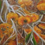 Redland Yurara Art Society - 'Bush Flowers' -Louise Harrison - Oil - Painting - Art Exhibition - Major Spring Art Exhibition