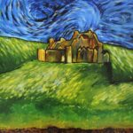 redland yurara art society - yurara youth art awards - YYAA 2020 - art exhibition - art competition - 'Castle on the Starry Hill' - Toni Mclean - Cleveland District State High School - Acrylic - Print