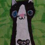 redland yurara art society - yurara youth art awards - YYAA 2020 - art exhibition - art competition - 'Cat and Mouse' - Tianah Edwards-Guy -Alexandra Hills State High School