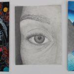 redland yurara art society - yurara youth art awards - YYAA 2020 - art exhibition - art competition - 'Don't Blink' - Poppy Kielczewski - Cleveland District State High School - Mixed media