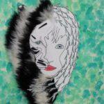 redland yurara art society - yurara youth art awards - YYAA 2020 - art exhibition - art competition - 'Future Lion' - Felicity Cantrill - Cleveland District State High School - Mixed media