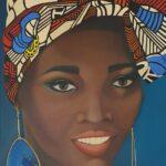 Redland Yurara Art Society -'Girl in Headdress' -Christine Pugh -Oil - Painting - Art Exhibition - Major Spring Art Exhibition