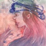 redland yurara art society - yurara youth art awards - YYAA 2020 - art exhibition - art competition - 'Halo of Emptiness' - Alana Heaton - Victoria Point State High School - Gouache - Acrylic paint