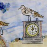 redland yurara art society - yurara youth art awards - YYAA 2020 - art exhibition - art competition - 'Hands of Time' -Caitlin Whyte -Ormiston College -Watercolour - Charcoal