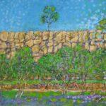 Redland Yurara Art Society - 'Kangaroo Point Cliffs' - Tarja Rantala - Acrylic - Painting - Art Exhibition - Major Spring Art Exhibition